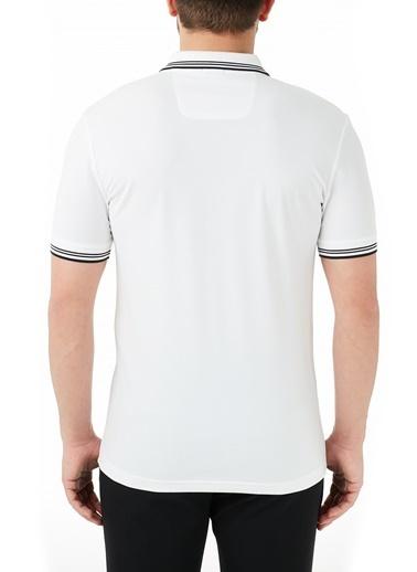 Hugo Boss  Pamuklu Slim Fit Polo T Shirt Erkek Polo 50412675 115 Beyaz